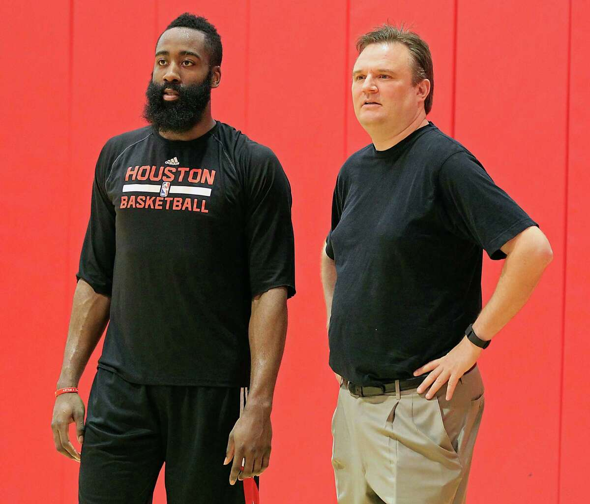 Daryl Morey, right, on Rockets guard James Harden: