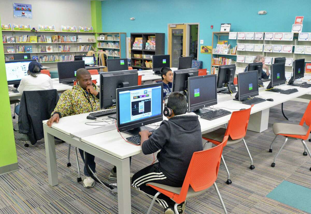 Inside the newly opened Phyllis Bornt Branch Library and Literacy Center on State Street Friday April 29, 2016 in Schenectady, NY. (John Carl D'Annibale / Times Union)