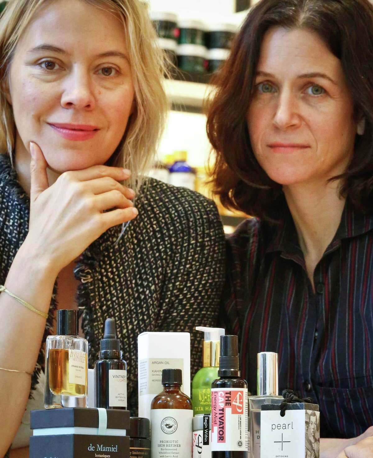Kerrilynn Pamer, left, and Cindy DiPrima Morisse, owners of CAP Beauty in New York, said 40 percent of the store's top 10 products are ingestible items made of exotic ingredients.