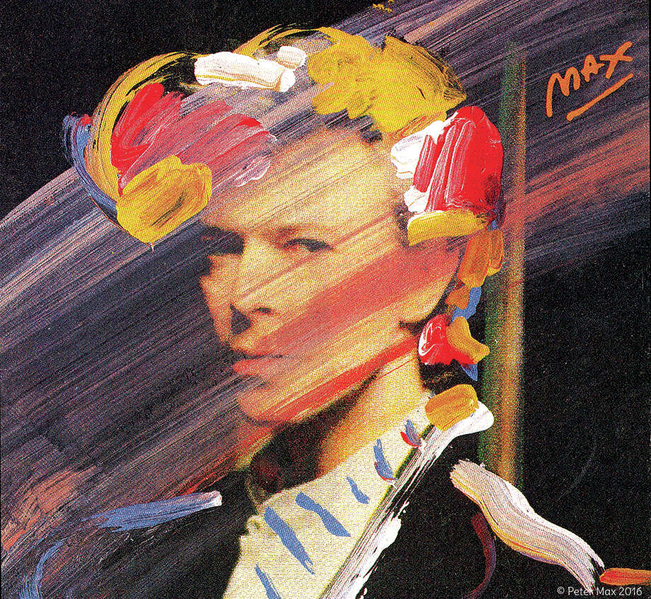Peter Max's iconic image of David Bowie. Photo: Peter Max