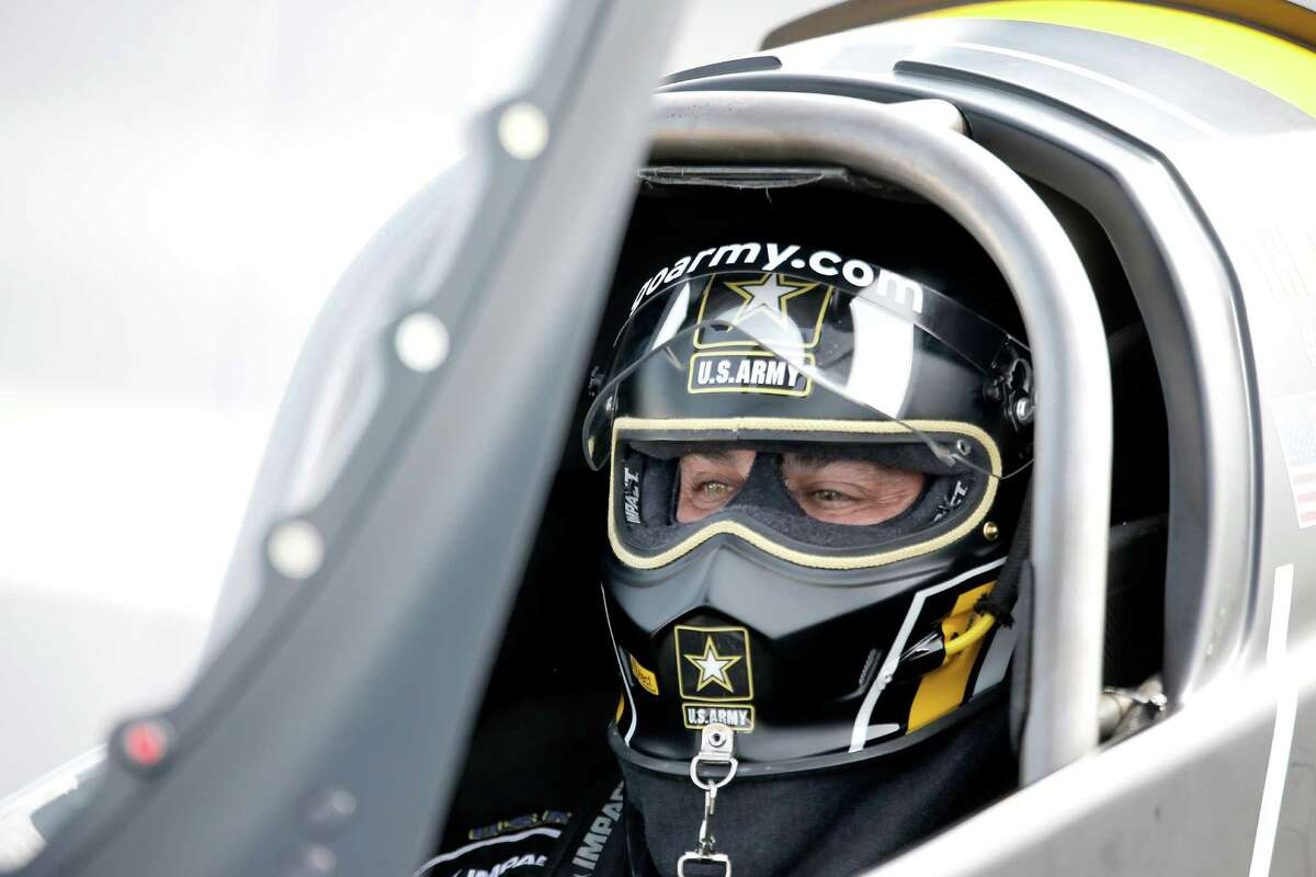 Top Fuel driver Tony Schumacher had trouble on his fourth qualification run at the 29th annual NHRA Spring Nationals at the Royal Purple Raceway on Friday, April 30, 2016 in Baytown, TX.