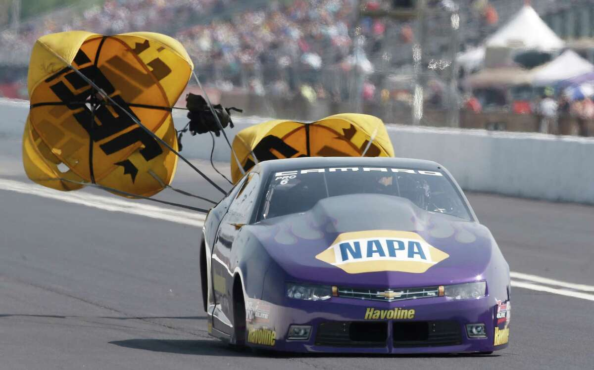 Pro Stock driver Ron Capps during qualification at the 29th annual NHRA Spring Nationals at the Royal Purple Raceway on Friday, April 30, 2016 in Baytown, TX.