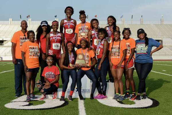 Cy-Springs High School girls track team won the overall award for points for Girls Track at the 6A Region III Championships on Saturday, April 30, 2016 at the Challenger Columbia Stadium.