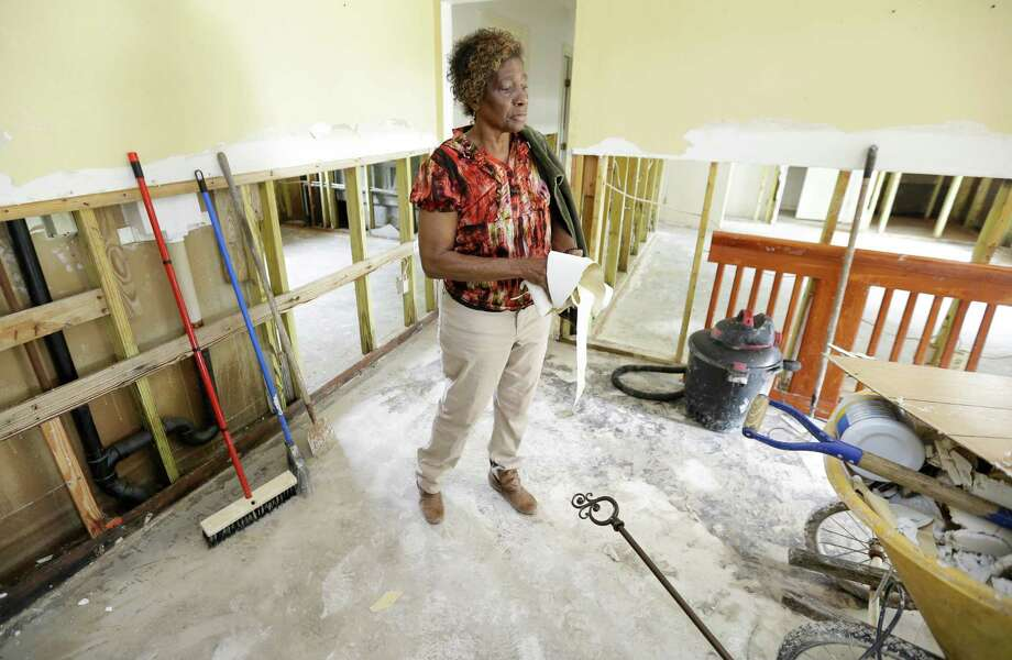 Paula Earls Price's home in west Wharton has been flooded three times in the 40 years she's lived there. This time, she expects repairs to cost $30,000. Photo: Melissa Phillip, Staff / © 2016 Houston Chronicle