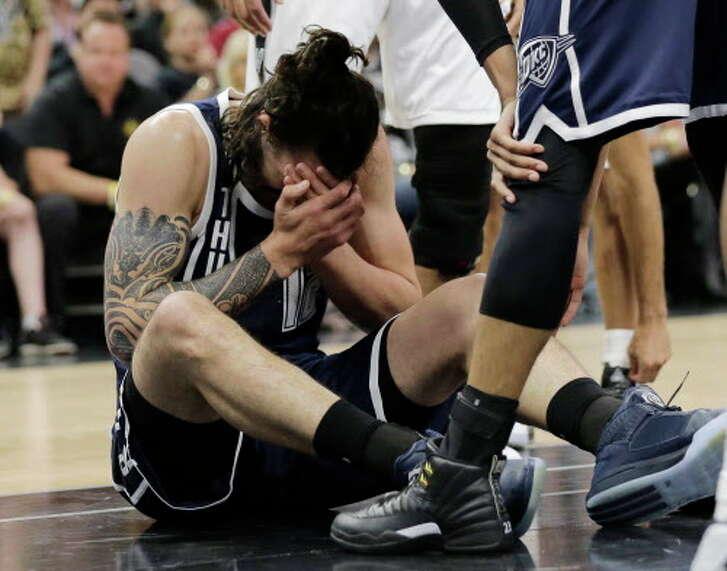 Spurs vs. Thunder NBA playoffs Game 1.