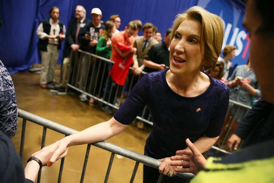 This is what Donald Trump had to say about former opponent Carly Fiorina, who is currently under consideration for national intelligence chief, during the Republican primary campaign ... (click to see). Photo: Joe Raedle, Getty Images
