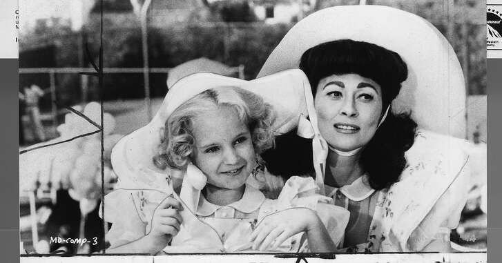 """Mara Hobel and Faye Dunaway in """"Mommie Dearest""""   Photo credit: Paramount 1981"""