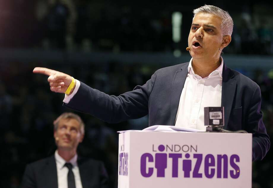 Sadiq Khan, above, is the son of a bus driver. His opponent, Zac Goldsmith, is the son of a billionaire. Photo: Frank Augstein, Associated Press