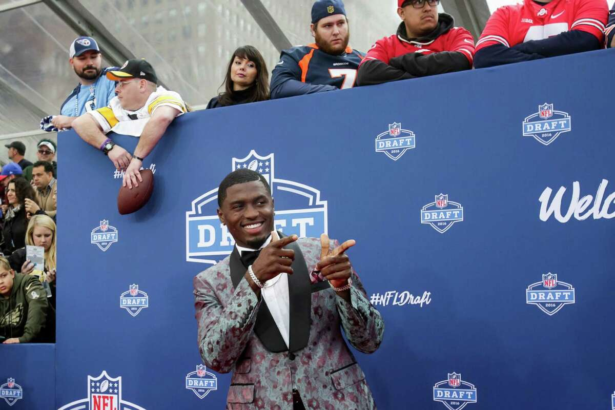 CHICAGO, IL - APRIL 28: Draftee Laquon Treadwell of Mississippi arrives to the 2016 NFL Draft at the Auditorium Theatre of Roosevelt University on April 28, 2016 in Chicago, Illinois.