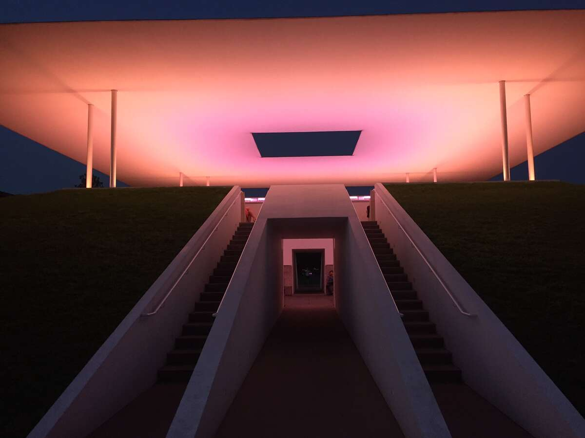 A 40-minute light show occurs at sunrise and sunset at the James Turrell Skyspace art installation,