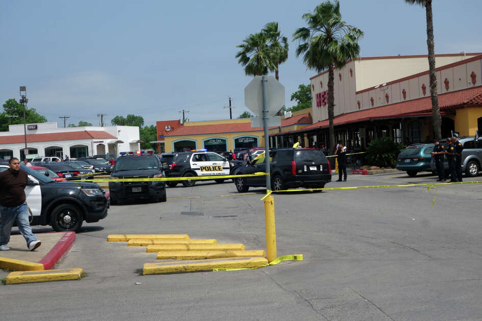 San Antonio police investigate a shooting at an H-E-B on the West Side Sunday, May 1, 2016.