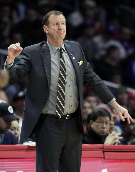 Portland Trail Blazers head coach Terry Stotts reacts to a referee's call during the first half of an NBA basketball game against the Los Angeles Clippers in Los Angeles, Thursday, March 24, 2016. (AP Photo/Alex Gallardo) Photo: Alex Gallardo, AP