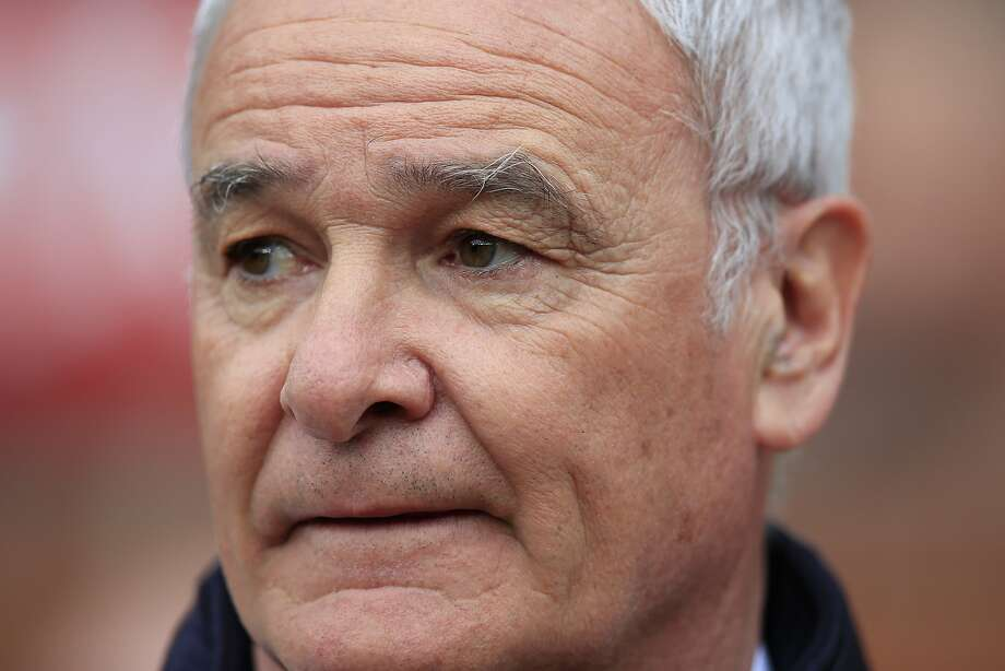 Leicester's manager Claudio Ranieri takes to the touchline  before the English Premier League soccer match between Manchester United and Leicester at Old Trafford Stadium, Manchester, England, Sunday, May 1, 2016. (AP Photo/Jon Super) Photo: Jon Super, Associated Press