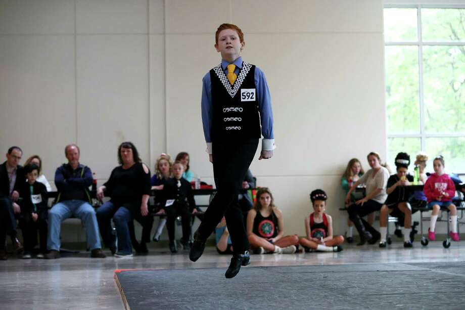 Daniel Callanan, from Stamford, performs at the Lynn Academy Spring Feis, which is an Irish dancing competition, on Sunday, May 1, 2016 at Stamford High School. Callanan recently placed first in the boys under 12 Big Apple Fies this past March. Photo: Michael Cummo / Hearst Connecticut Media / Stamford Advocate