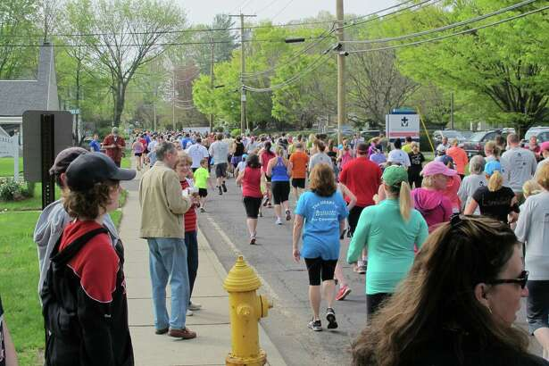 "Nearly 600 runners and walkers participated in the 2015 Milford Hospital ""Live Well"" Mother's Day 5K"