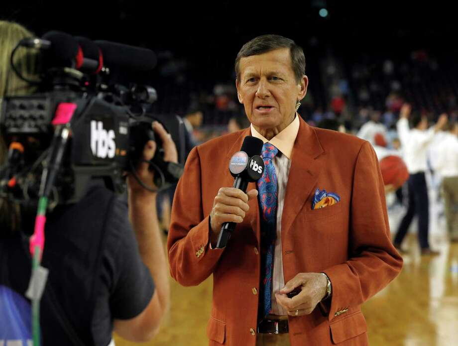 Broadcaster Craig Sager talks on camera before the NCAA Final Four tournament college basketball championship game between Villanova and North Carolina, Monday, April 4, 2016, in Houston. (AP Photo/David J. Phillip) Photo: David J. Phillip, STF / AP / AP