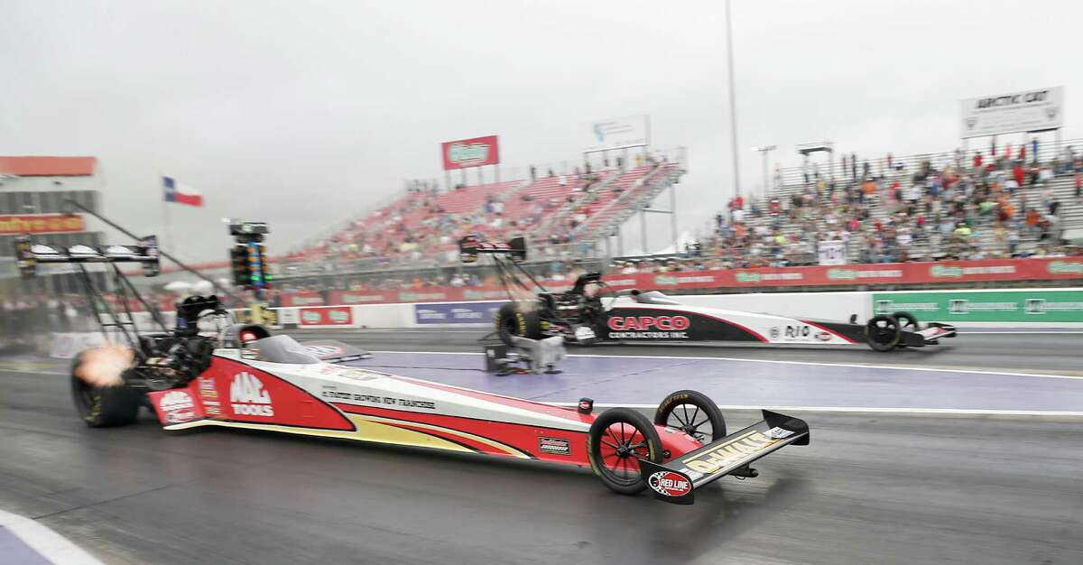 Doug Kalitta defeated Steve Torrence in the Top Fuel finals race at the 29th annual NHRA Spring Nationals at the Royal Purple Raceway on Sunday, May 1, 2016 in Baytown, TX.
