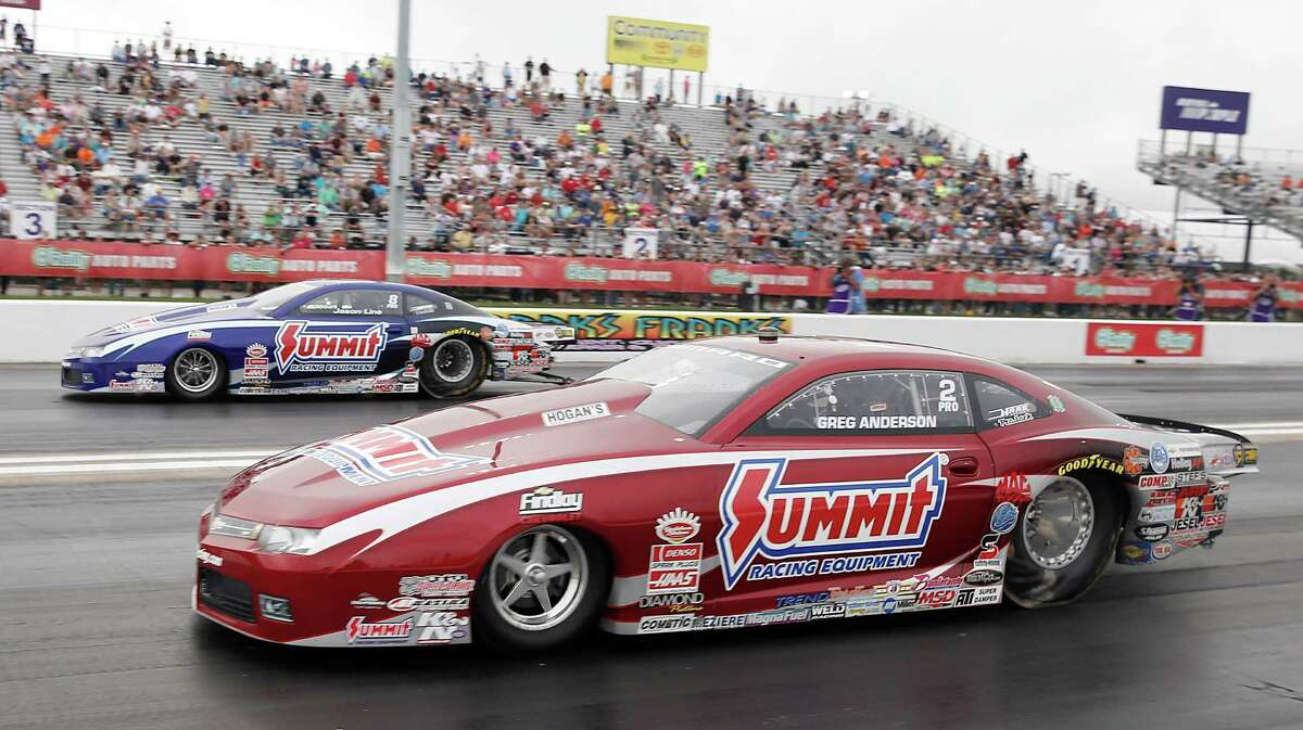 Greg Anderson defeated Jim Line in the Pro Stock race finals at the 29th annual NHRA Spring Nationals at the Royal Purple Raceway on Sunday, May 1, 2016 in Baytown, TX.