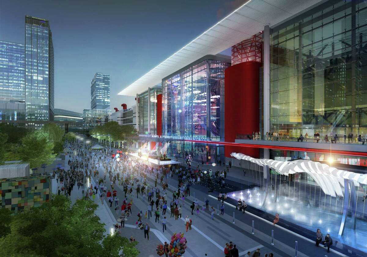 A 2015 rendering of coming rennovations planned for the George R. Brown Convention Center.