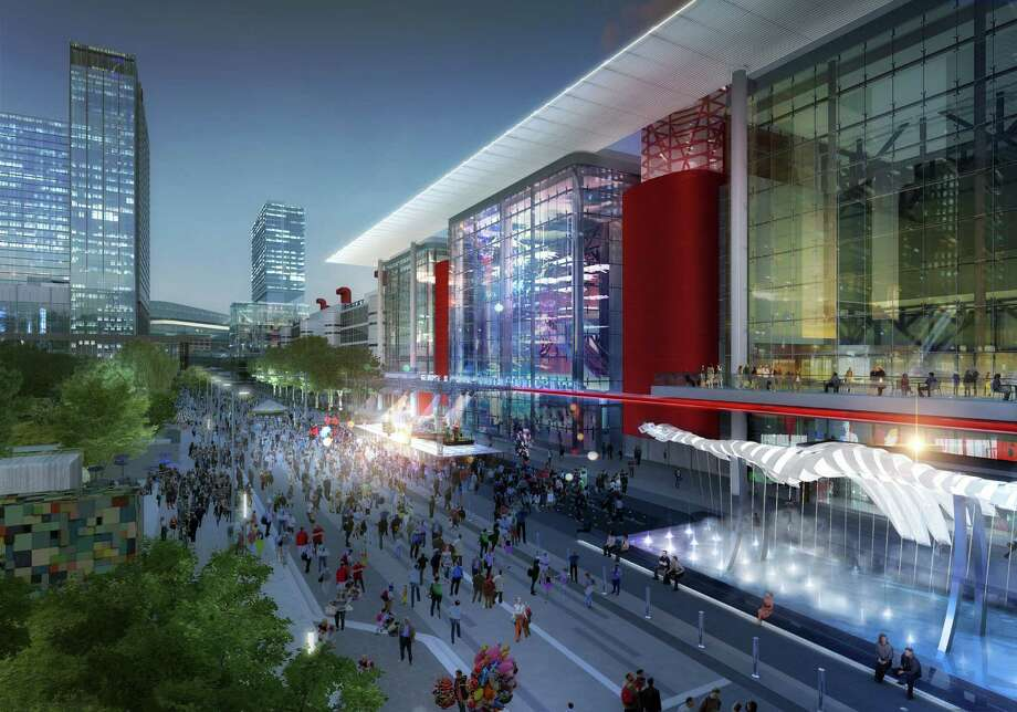 A 2015 rendering of coming rennovations planned for the George R. Brown Convention Center. Photo: Courtesy Of Houston First