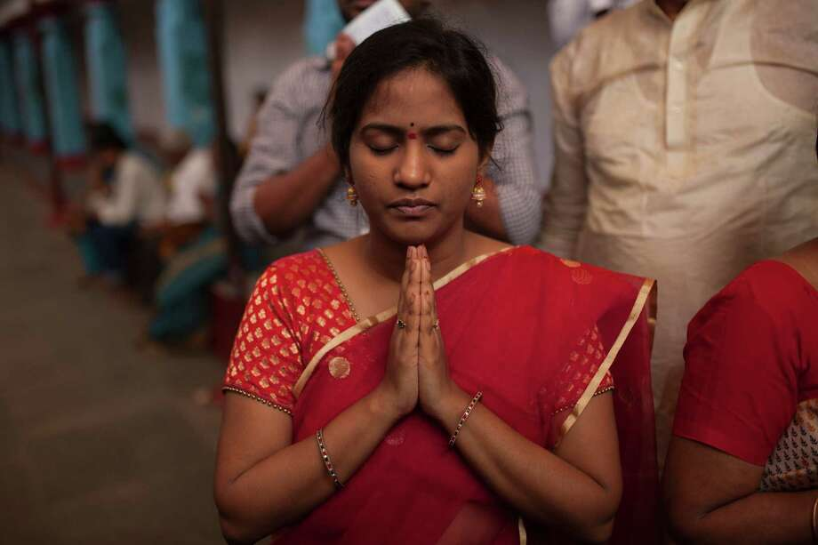 The Chilkur Balaji Temple in Hyderabad, India, draws thousands who pray to obtain a U.S. work visa. Photo: Photographer: Bernat Parera / ONLINE_YES
