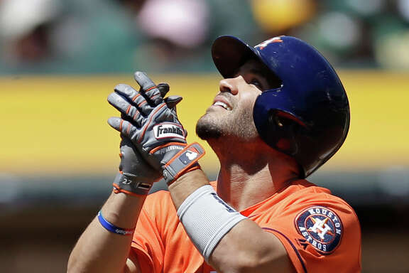 Jose Altuve was glad to get the month off to a good start, taking Rich Hill deep for his seventh homer of the year to open Sunday's game.