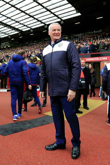Leicester's manager Claudio Ranieri smiles as he takes to the touchline  before the English Premier League soccer match between Manchester United and Leicester at Old Trafford Stadium, Manchester, England, Sunday, May 1, 2016. (AP Photo/Jon Super) Photo: Jon Super, STR / Copyright 2016 The Associated Press. All rights reserved. This material may not be published, broadcast, rewritten or redistribu