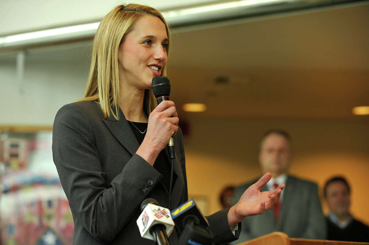 State Rep. Caroline Simmons, D-Stamford, co-sponsored legislation, provoked by a sexual misconduct and cover-up at Stamford High School, aimed at preventing fired teachers and administrators from finding similar employment in other state school districts.