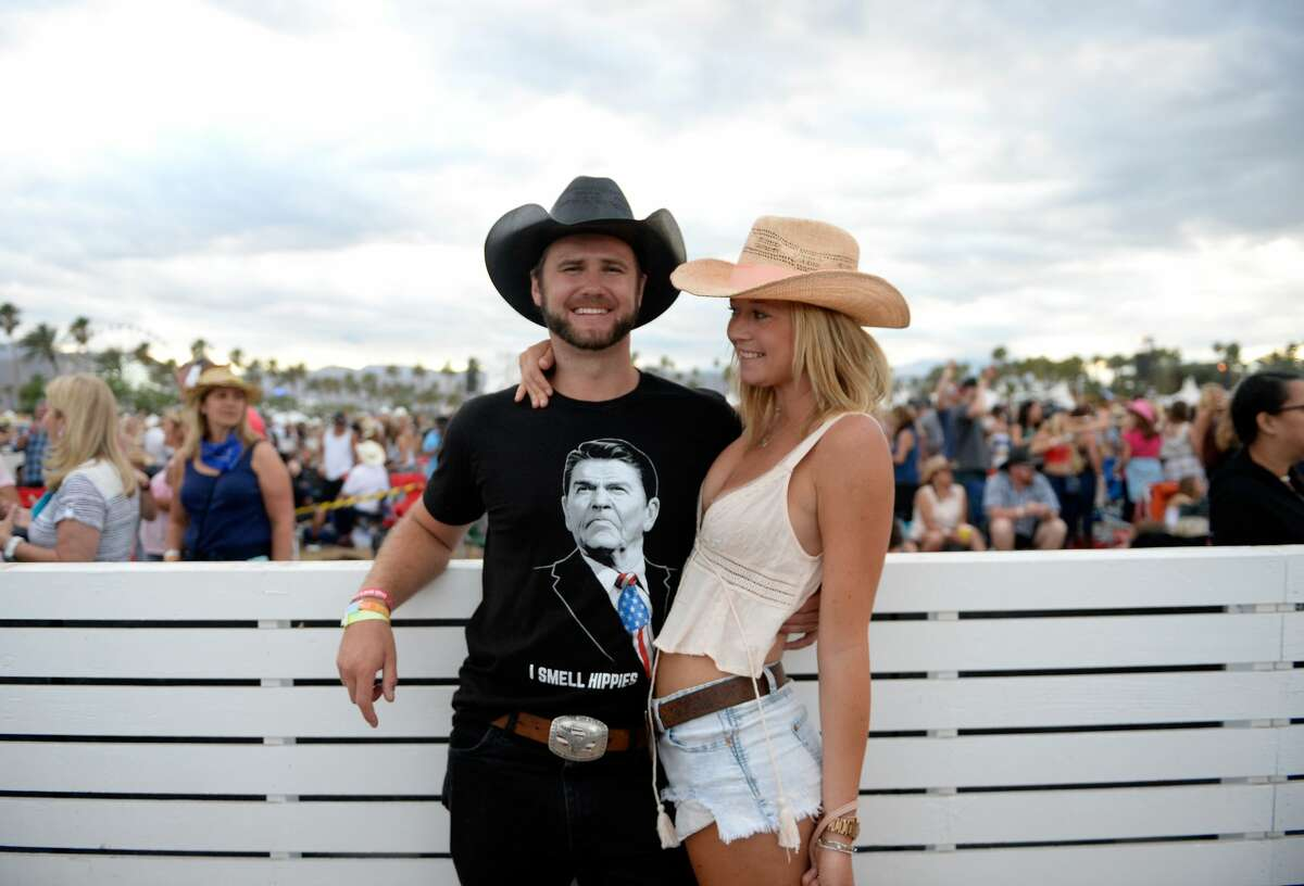 Cowboy hats are always welcome at Houston festivals, as are Ronald Reagan shirts.