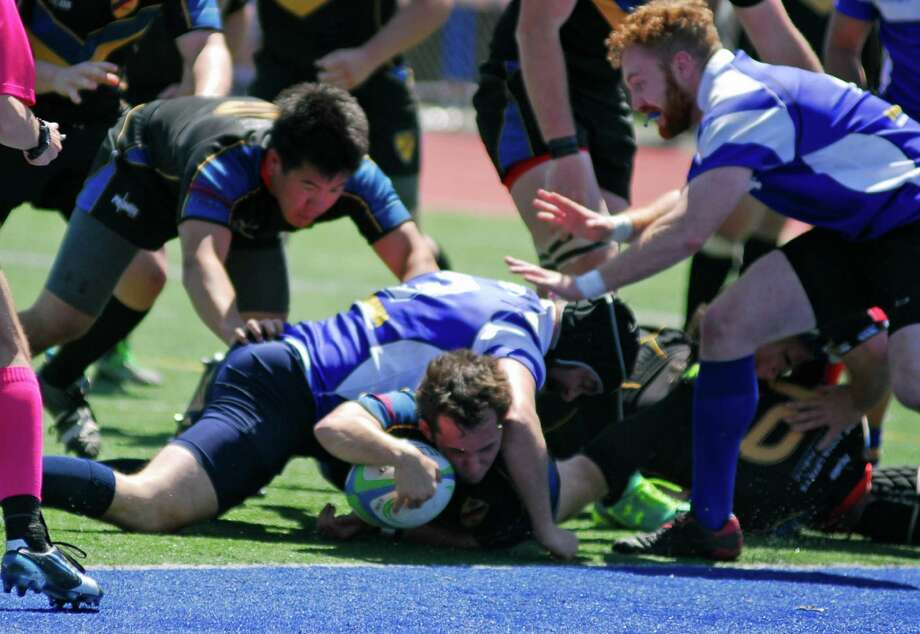 Action from the Fairfield Yankees rugby team's 47-46 win over Rockaway (New Jersey) on Saturday, May 1st, 2016. Photo: Ryan Lacey/Hearst Connecticut Media / Westport News Contributed