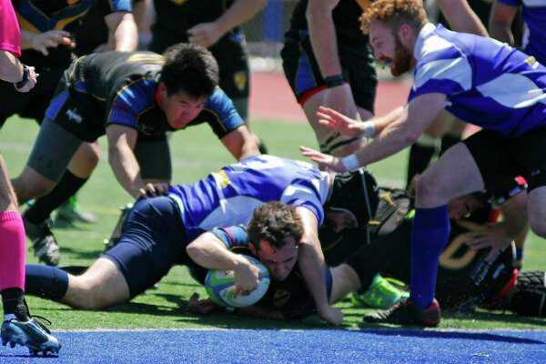 Action from the Fairfield Yankees rugby team's 47-46 win over Rockaway (New Jersey) on Saturday, May 1st, 2016.