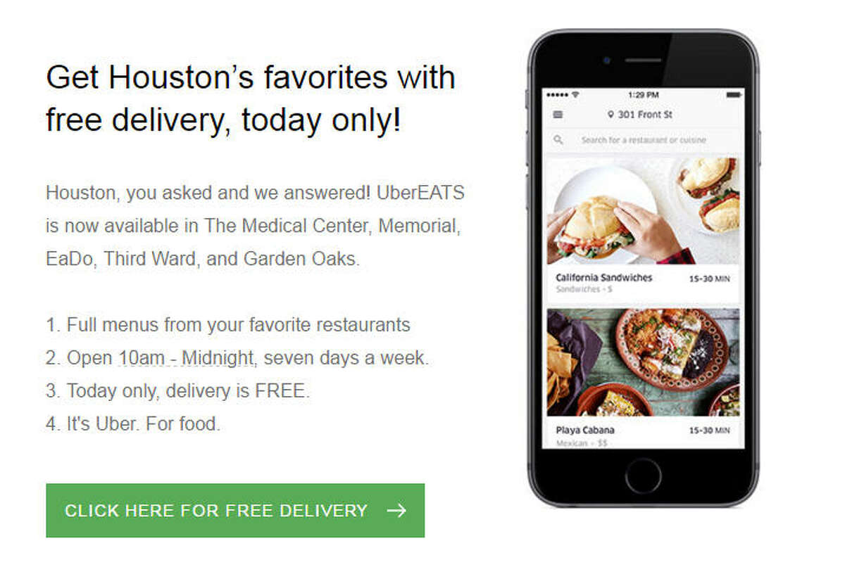 UberEATS UberEATS announced Monday that it's expanding to new parts of Houston.