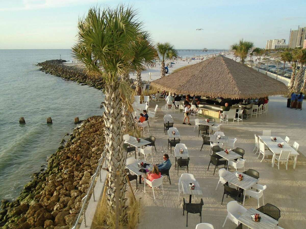 The Sandbar at the swanky new Opal Sands Resort in Clearwater Beach, Fla., overlooks the Gulf of Mexico.