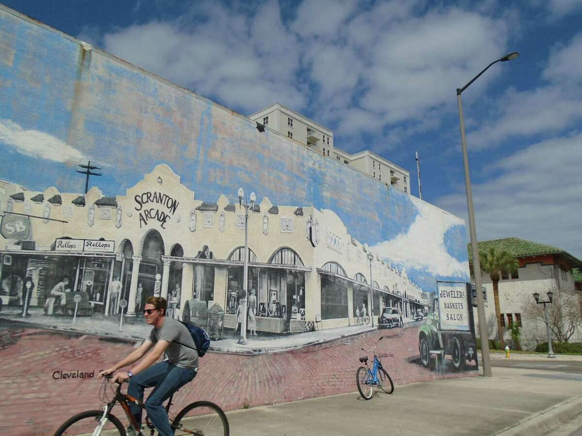 Along the Pinellas Trail, a rail-to-trail conversion, this mural appears in downtown Clearwater, Fla.