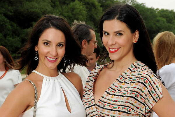 Ivana Rouse and Jelena Kovacevic at the Evening in the Park near the Jones Reflection Park in Hermann Park Friday April 29,2016(Dave Rossman Photo)