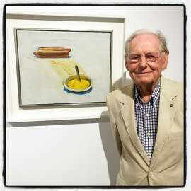 Art Bash guest Wayne Thiebaud was also at Minnesota Street Project for a dinner preview hosted by Christie's which launches its Post War & Contemporary Art Sale May 8 in New York. April 2016.