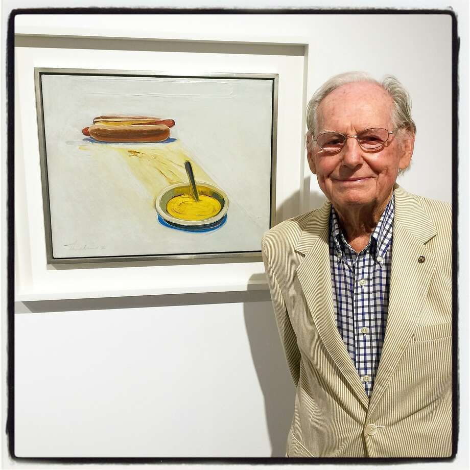 Art Bash guest Wayne Thiebaud was also at Minnesota Street Project for a dinner preview hosted by Christie's. Photo: Catherine Bigelow, Special To The Chronicle