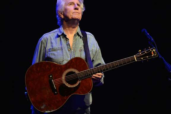 BEVERLY HILLS, CA - APRIL 22:  Rock and Roll Hall of Fame member Graham Nash of The Hollies and CSNY performs onstage at Saban Theatre on April 22, 2016 in Beverly Hills, California.  (Photo by Scott Dudelson/Getty Images)