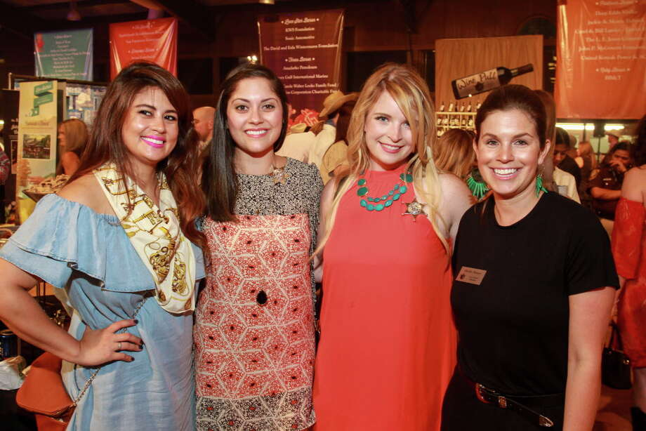 Olivia Fisher, from left, Mary Rosenstein, Elizabeth Graham and Mary Stone at the Cattle Baron's Ball.  (For the Chronicle/Gary Fountain, April 30, 2016) Photo: Gary Fountain, Gary Fountain/For The Chronicle / Copyright 2016 Gary Fountain