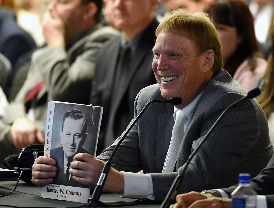LAS VEGAS, NV - APRIL 28:  Oakland Raiders owner Mark Davis attends a Southern Nevada Tourism Infrastructure Committee meeting at UNLV on April 28, 2016 in Las Vegas, Nevada. Davis told the committee he is willing to spend USD 500,000 as part of a deal to move the team to Las Vegas if a proposed USD 1.3 billion, 65,000-seat domed stadium is built by casino magnate Sheldon Adelson's Las Vegas Sands Corp. and real estate agency Majestic Realty, possibly on a vacant 42-acre lot a few blocks east of the Las Vegas Strip recently purchased by UNLV.  (Photo by Ethan Miller/Getty Images) Photo: Ethan Miller, Getty Images