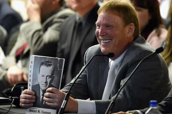 LAS VEGAS, NV - APRIL 28:  Oakland Raiders owner Mark Davis attends a Southern Nevada Tourism Infrastructure Committee meeting at UNLV on April 28, 2016 in Las Vegas, Nevada. Davis told the committee he is willing to spend USD 500,000 as part of a deal to move the team to Las Vegas if a proposed USD 1.3 billion, 65,000-seat domed stadium is built by casino magnate Sheldon Adelson's Las Vegas Sands Corp. and real estate agency Majestic Realty, possibly on a vacant 42-acre lot a few blocks east of the Las Vegas Strip recently purchased by UNLV.  (Photo by Ethan Miller/Getty Images)