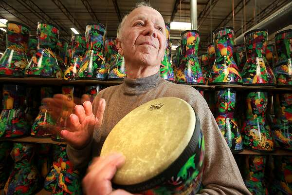 Remo Belli, the founder and chief executive of Remo Drums, in the Valencia factory where his drums a manufactured Thursday March 11 2010. He has been in the drum business for 50 years, was a professional drummer and is credited with coming up with the synthetic drum head.  (Photo by Brian Vander Brug/Los Angeles Times via Getty Images)