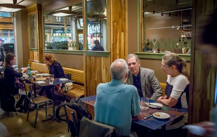 Diners have dinner at Huxley in San Francisco, Calif., on Saturday, January 24th,  2015. Photo: John Storey, Special To The Chronicle