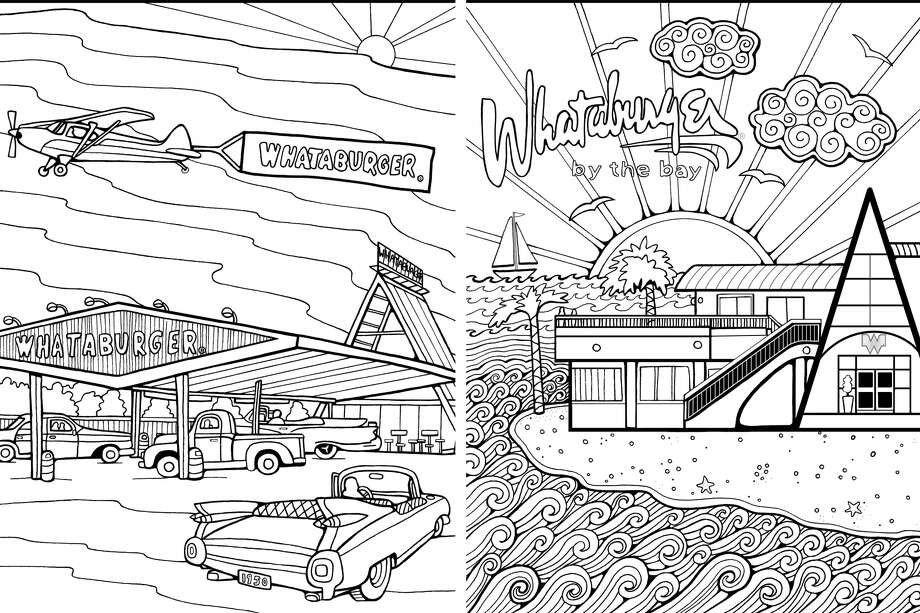 Whataburger Is Hosting An Adult Coloring Contest Throughout The Month Of May With Weekly Winners