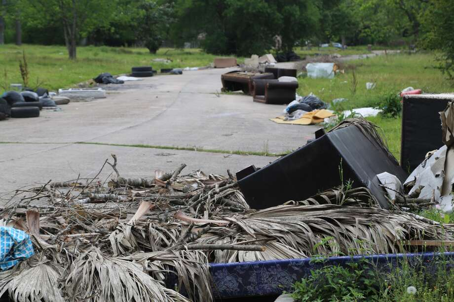 Lots of Houston neighborhoods struggle with with trash dumping, but solving such problems is trickier in unincorporated East Aldine. (Mike Snyder/Houston Chronicle)