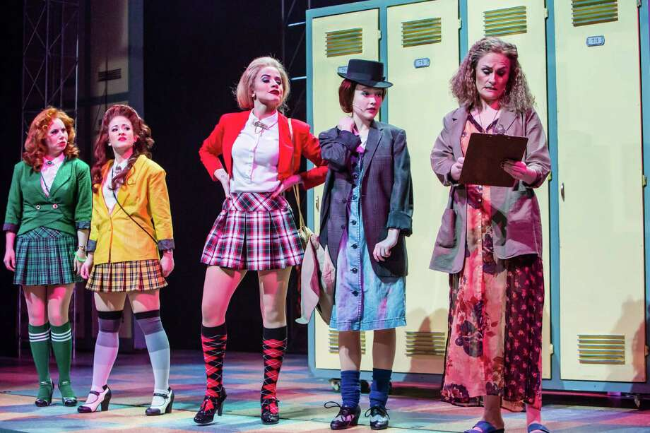 "The plaid-skirted ""Heathers"" rule the halls of Westerberg High School in ""Heathers: The Musical."" Photo: Christian Brown / Christian Brown"