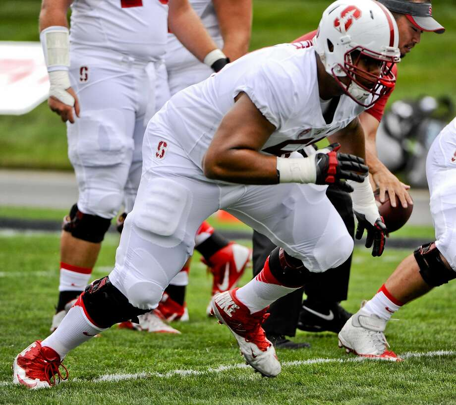 Stanford guard Joshua Garnett, a first-round selection for the 49ers, fits well with general manager Trent Baalke's and head coach Chip Kelly's emphasis on the running game. Photo: Matt Marton, Associated Press