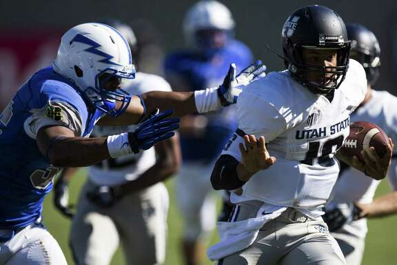 While at Utah State, Chuckie Keeton was one of the most productive quarterbacks in the nation when healthy. But he was limited to 16 games the last three seasons.