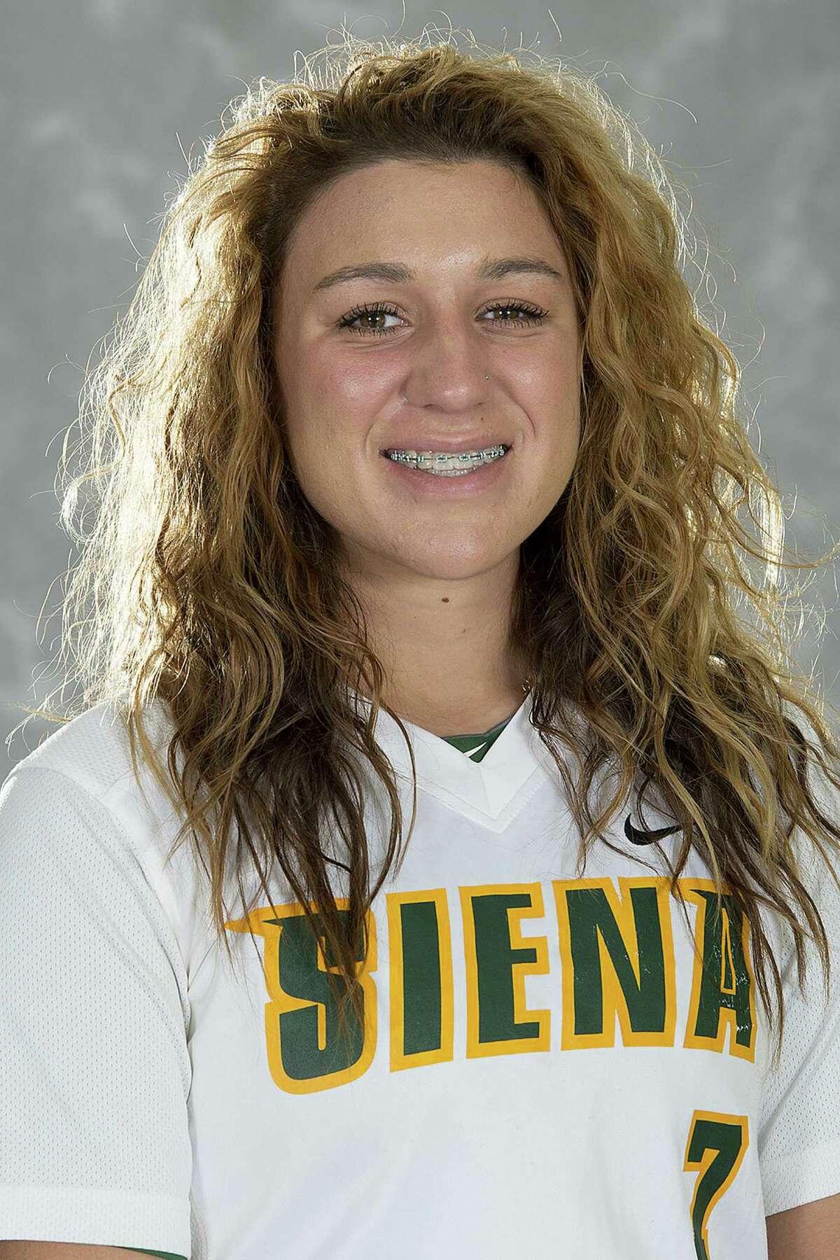 Bethlehem High graduate Sammy Smaldone of the Siena College softball team. (Siena College sports information)