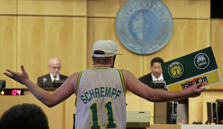 The Seattle City Council voted 5-4 against vacating a stretch of road where investor Chris Hansen hopes to eventually build an arena that could house an NBA and NHL team. Five women on the Council opposed the measure.  They have since been on the receiving end of misogynist threats. (AP Photo/Elaine Thompson) Photo: AP